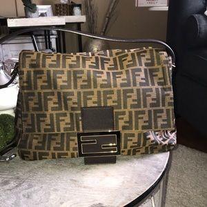 Authentic Large Fendi Zucca Handbag